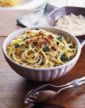 Angel Hair Pasta with Spinach
