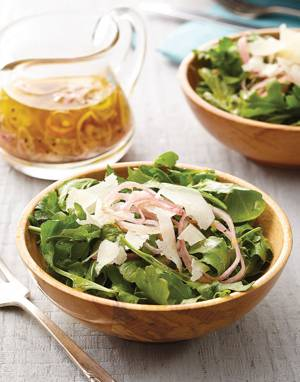 Arugula Salad with shallot vinaigrette