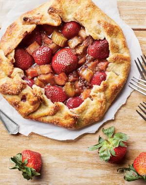 Rhubarb & Strawberry Galette