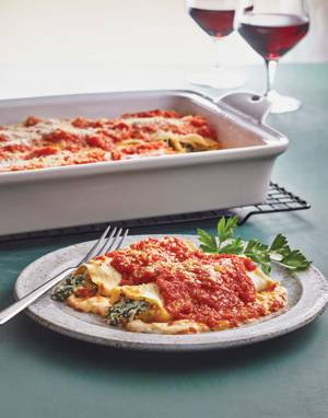 Three-Cheese & Spinach Cannelloni