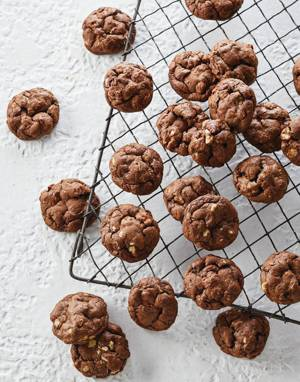 Chocolate Chubby Cookies with Pecans & Walnuts