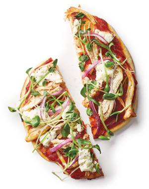 Chicken & Ricotta Pizza with Microgreens