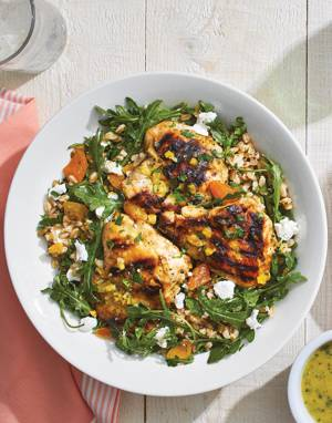 Chicken & Apricot Salad with farro