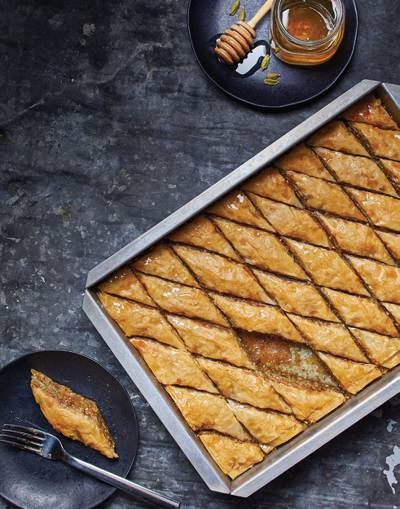 Baklava with Orange & Cardamom