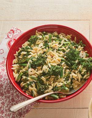 Spicy Broccolini Orzo