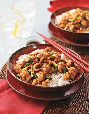 Cashew Chicken with Ginger & Scallions