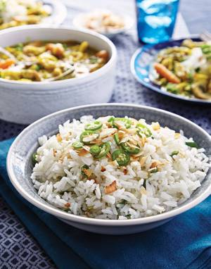Coconut Rice with Scallions