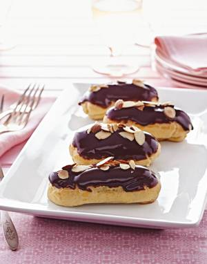 Éclairs with Almond Pastry Cream