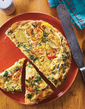 Spanish Tortilla with Mini Peppers