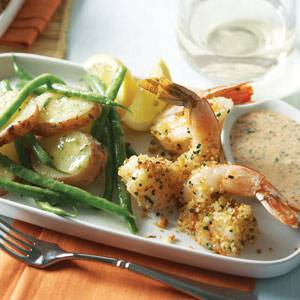 Baked Shrimp with New Orleans Rémoulade Sauce