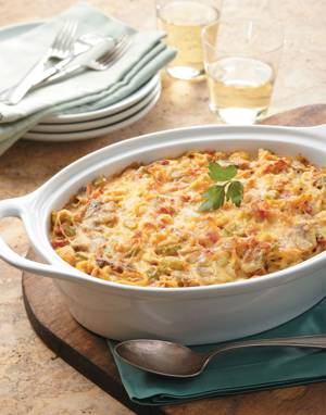 Chicken Tetrazzini with Cheddar & Pimentos