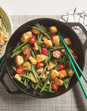Chicken Stir-Fry with green beans & tomatoes