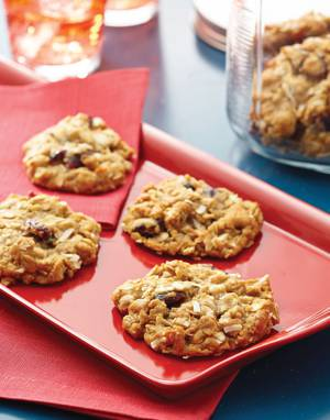 Anzac Biscuits with dried cranberries