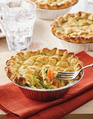 Chicken Little Pot Pies with Cauliflower & Peas