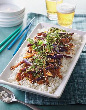 Chinese Eggplant with Ginger Sauce