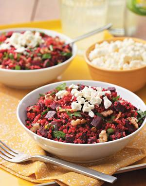Mediterranean Quinoa with Red Beets