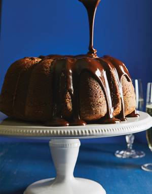 Chocolate-Sour Cream Pound Cake with Ganache