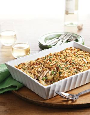 Chicken Tetrazzini with Bread Crumb Topping