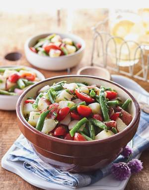 Potato Salad with Green Beans & Tomatoes