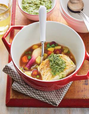Spring Fish Stew with Italian Verde Sauce