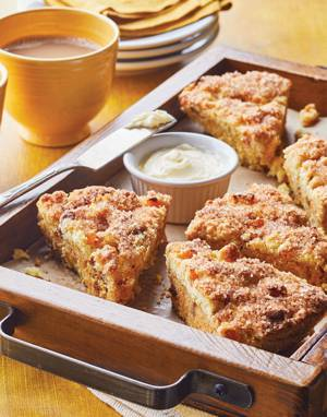 Apricot Scones with Cinnamon Chips