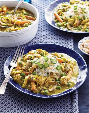Curried Chicken Fricassee with Coconut