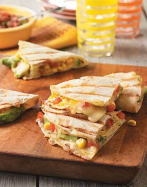 Corn & Bell Pepper Quesadillas