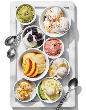 Plain Frozen Yogurt with Flavor Variations