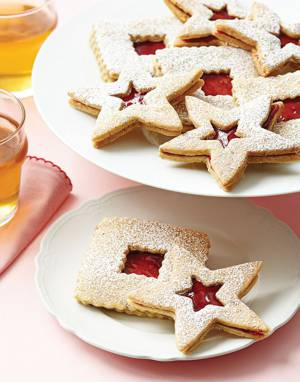 Almond Linzer Cookies