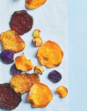 Crispy Baked Root Vegetable Chips