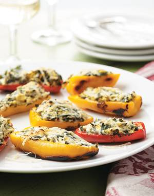 Spinach & Artichoke-Stuffed Mini Peppers
