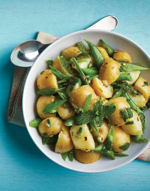 Snap Pea & Potato Salad with Mint and Honey