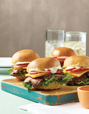 Mini Steak Sandwiches with Horseradish Sauce