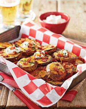 Grilled Potatoes with Bacon & Cheddar