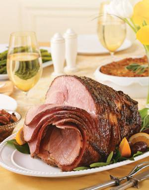 Baked Ham with Agave-Orange Glaze