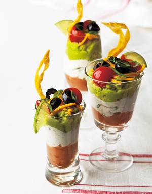 Mexican Parfaits with Crispy Tortilla Strips
