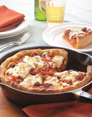 Deep Dish Supreme Pizza