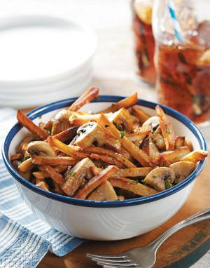 Golden Fries with Mushrooms
