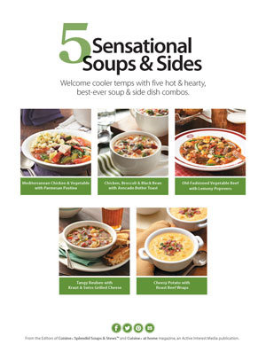 5 Sensational Soups and Sides Cover